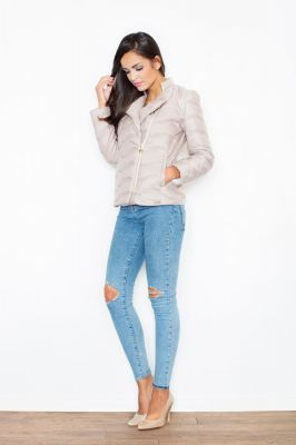 Beige Quilted Double Layered Bubble Jacket