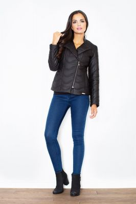 Black Quilted Double Layered Bubble Jacket