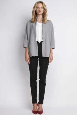 Grey stylish jacket with 3/4 sleeves