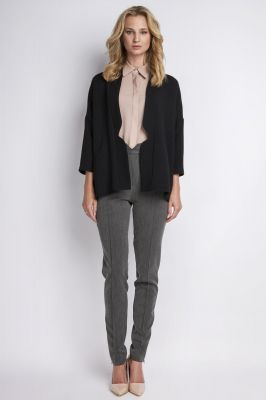 Black stylish jacket with 3/4 sleeves