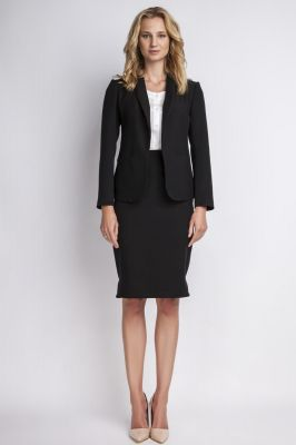 Black jacket with shawl collars